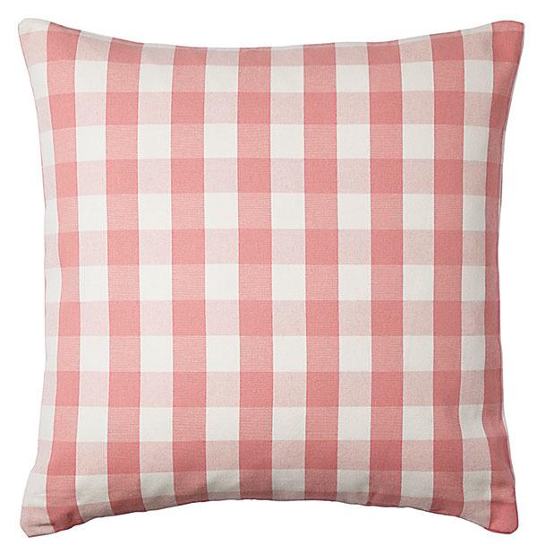 Poťah na vankúš SMÅNATE, biela, ružová, bavlna, 50 × 50 cm, 4,99 €, IKEA