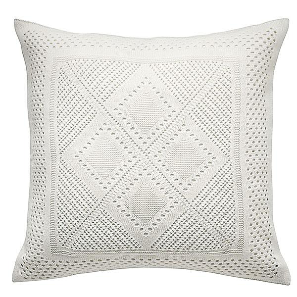 Poťah na vankúš LAVFLY, biely, akryl, 50 × 50 cm, 9,99 €, IKEA