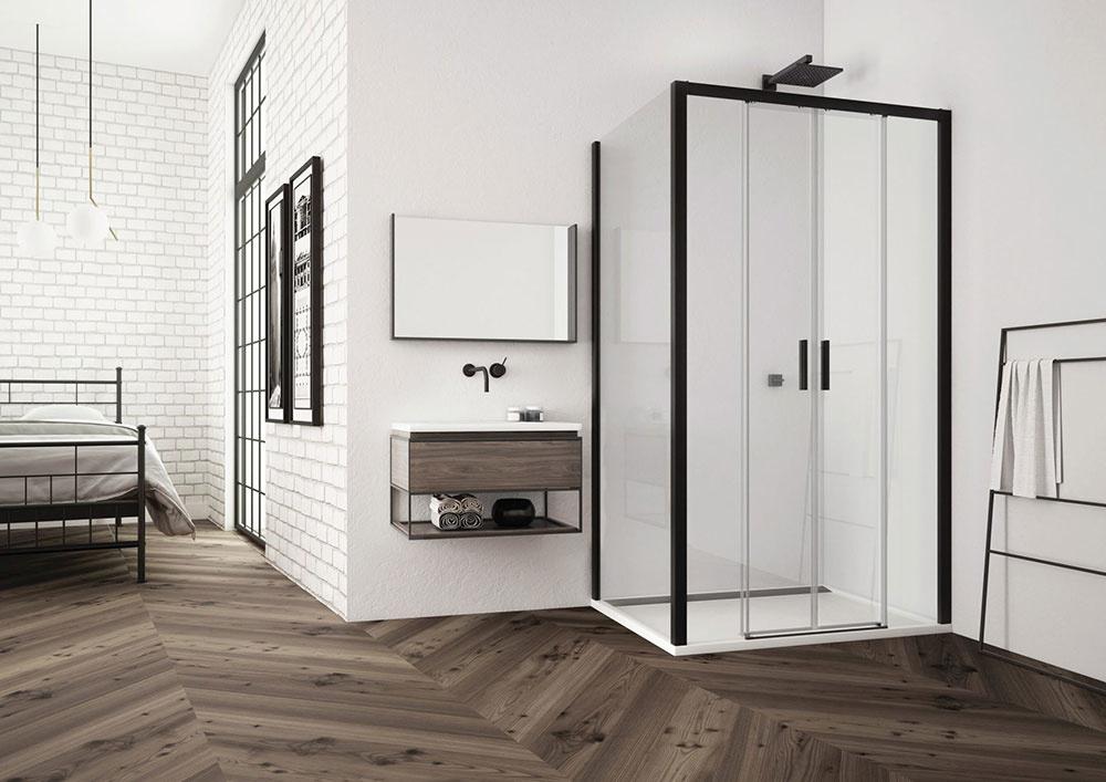 BLACK LINE: sprchové zásteny s decentnými prvkami v elegantnej čiernej farbe