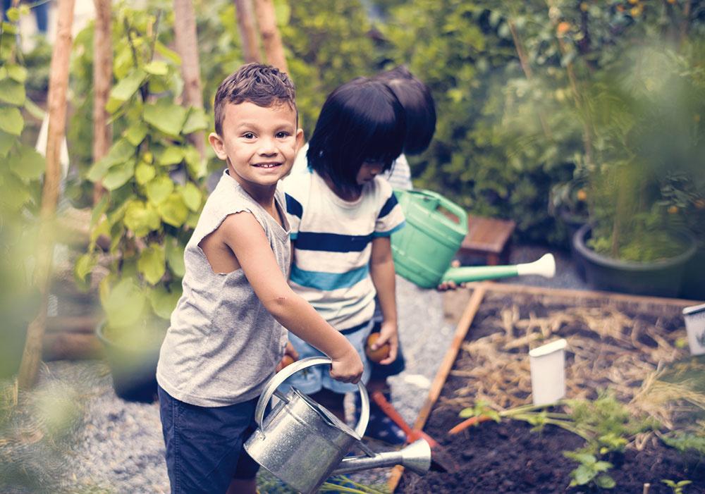 """""""Vyhraďte dieťaťu vlastný záhon. Vyskúšajte pestovať bylinky alebo zeleninu, ktorá rýchlo rastie – viditeľné výsledky sú najväčším povzbudením.""""  Daniel Košťál"""