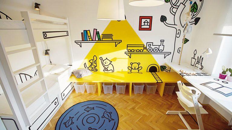 Originálna grafika premenila nenápadnú detskú izbu na rozprávkovú krajinu