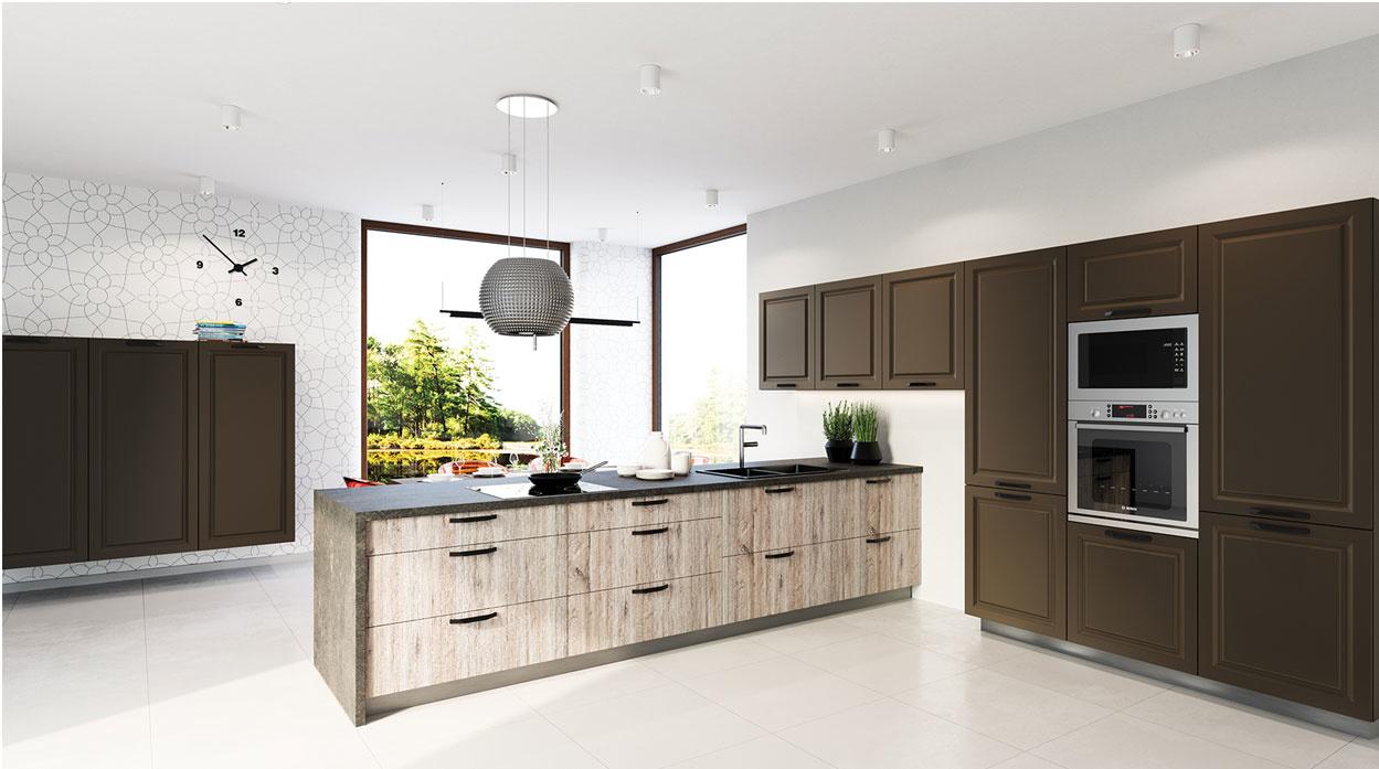 Módne trendy u vás doma: nová éra kuchýň inšpirovaná prírodnými živlami. Ruda, hrdza a hrče.