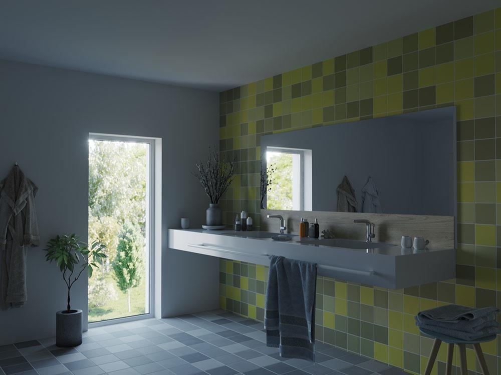 Najlepšie sa nalíčite pri dennom svetle, pri ktorom farby prirodzene vyniknú. Aj malá kúpeľňa môže vyzerať priestrannejšie, ak je vhodne osvetlená denným svetlom.
