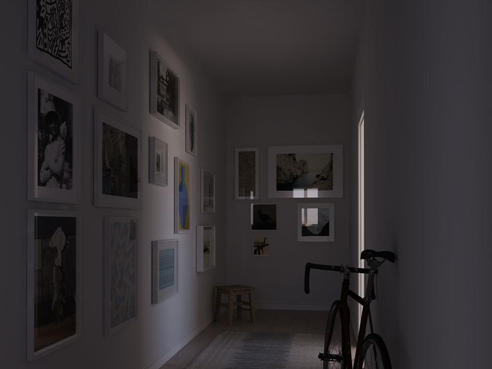 Správne umiestnený svetlovod zmenil atmosféru tmavej chodby. Svetlovod poslúži na presvetlenie tmavších častí obytných miestností, napríklad obývačky, alebo ako doplnkový zdroj svetla nad pracovnou doskou kuchyne.