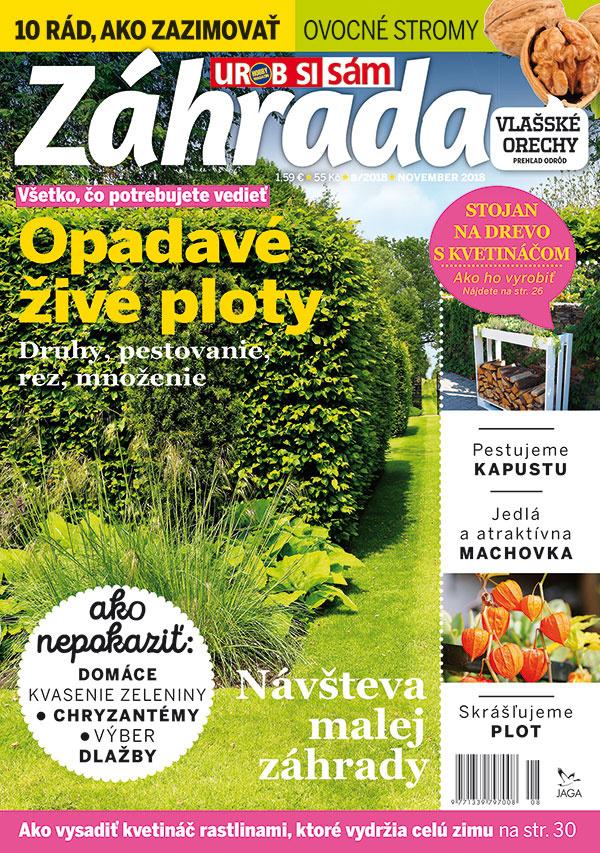 Nové vydanie časopisu Záhrada 8/2018 v predaji