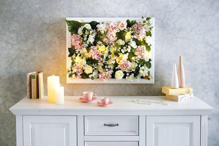 Kvetinový obraz pre romantikov