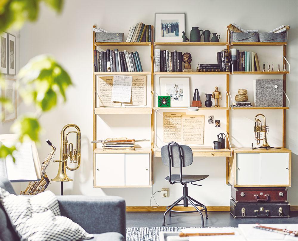 Noty amelódie inšpirujú vášho hudobníka či hudobníčku aj pri učení. Drevo ajemné hnedé tóny pôsobia akusticky, vnesú do pracovného kútika atmosféru minulosti apodčiarknu umeleckého ducha. Vysoká nástenná policová súprava vytvorí priestor na dekoráciu aušetrí miesto na stole.