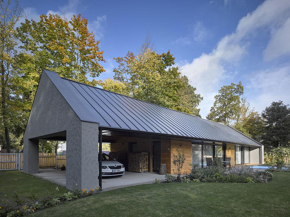Jednopodlažný bezbariérový dom zasadený do krásneho prostredia