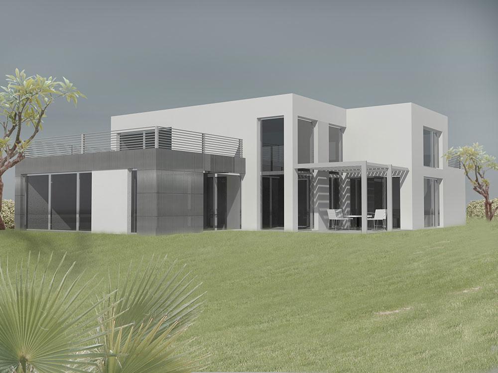 Projekt rodinného domu Black – White