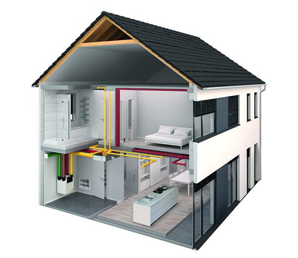 Príklad č. 1: dvojpodlažný rodinný dom