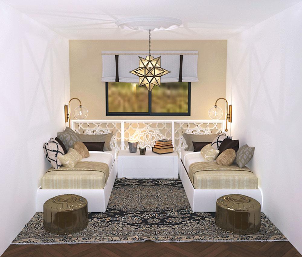 Návrh interiéru dvojizbového panelákového bytu pre mamu s dcérou