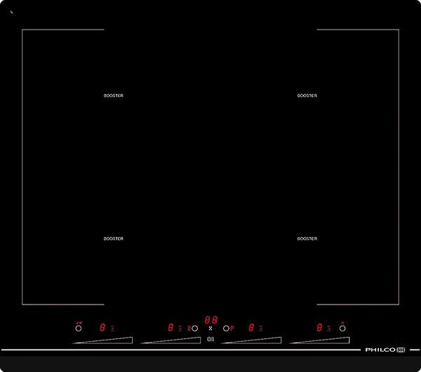 Indukčná varná doska Philco PHD 620 F4S je vyrobená zvysokoodolného bezpečnostného skla sčasovačom aindikáciou zostatkového tepla ušetrí energiu azabráni pretečeniu hrnca. Štyri varné zóny sú vybavené technológiou Booster na rýchlejšie varenie. Pomocou dotykového displeja si nastavíte viacero šikovných funkcií. Napríklad funkcia Bridge umožňuje použitie dvoch varných zón ako jednej, Stop&Go zase pozastaví chod varnej zóny aopätovne ho spustí. Rozmer 59 × 52 cm, cena 739 €. www.philco.sk