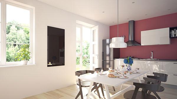 Bezrámové sklenené sálavé panely ECOSUN GS sa teraz dajú na želanie vybaviť aj farebným motívom