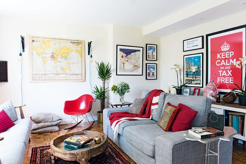 Útulný a rôznorodý domov, z ktorého dýcha láska majiteľov k cestovaniu
