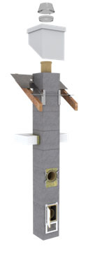 Štandardné riešenie v podobe Schiedel UNI Advanced je určené pre zodpovedného staviteľa