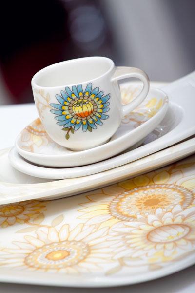 Kvety na tanieri