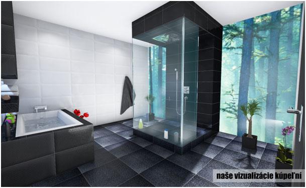 Vizualizácia modernej kúpeľne s naturálnou atmosférou prírody (www.tgbplast.sk)