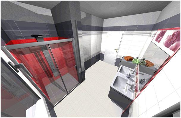 3D návrh kúpeľne s priestranným sprchovým kútom. (www.v-kupelni.sk)
