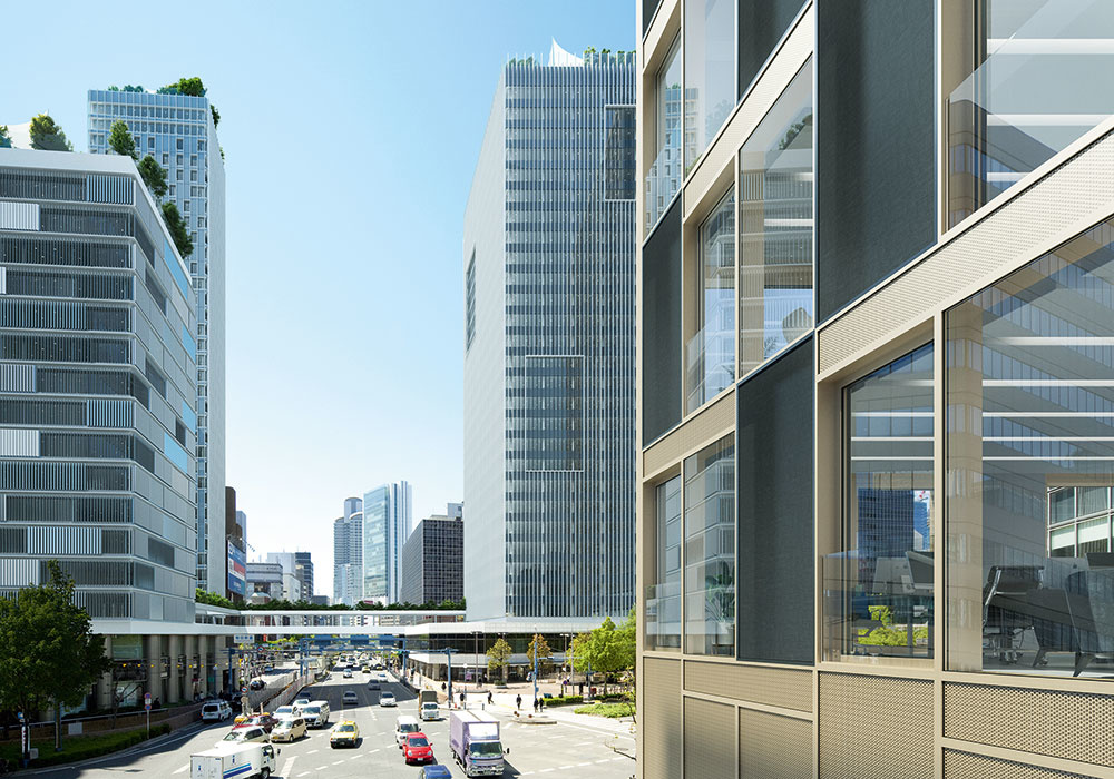Schüco prototyp predstavený počas BAU 2019: Vonkajšie fasády pohlcujúce zvuk môžu významne prispieť k zníženiu šírenia hluku v mestských priestoroch.