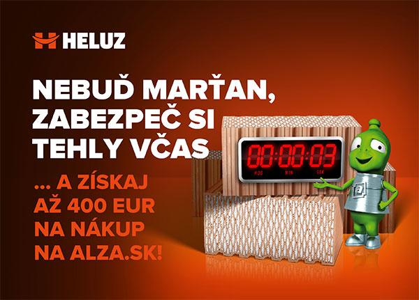 Za nákup tehál HELUZ až 400 EUR na útratu v e-shope Alza.sk