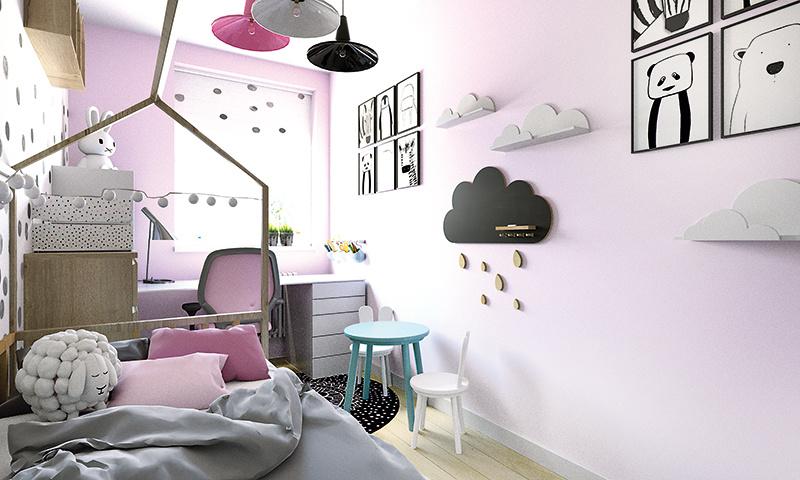 Ako zariadiť malú a podlhovastú detskú izbu