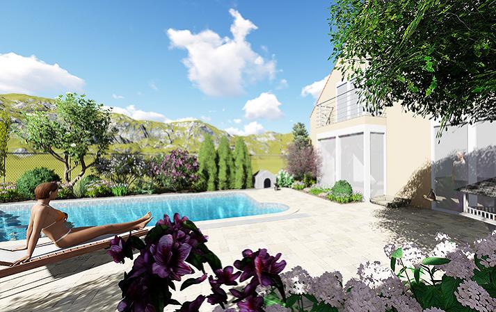 Ako oživiť záhradu s bazénom v žalostnom stave, aby kvitla po celý rok