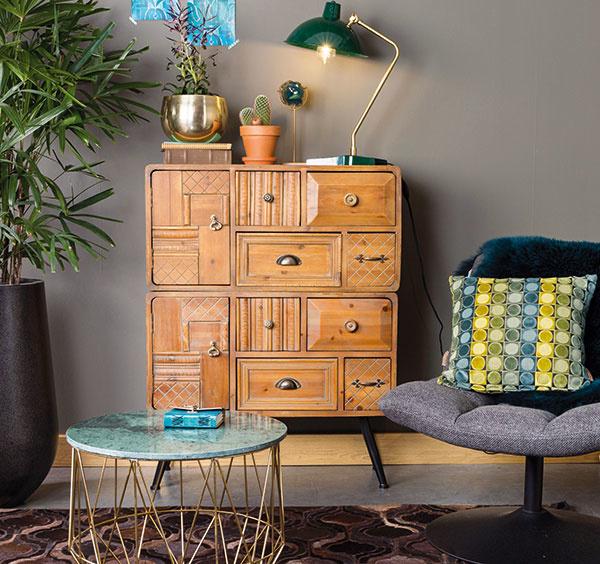 Útulný domov vďaka nábytku z dreva