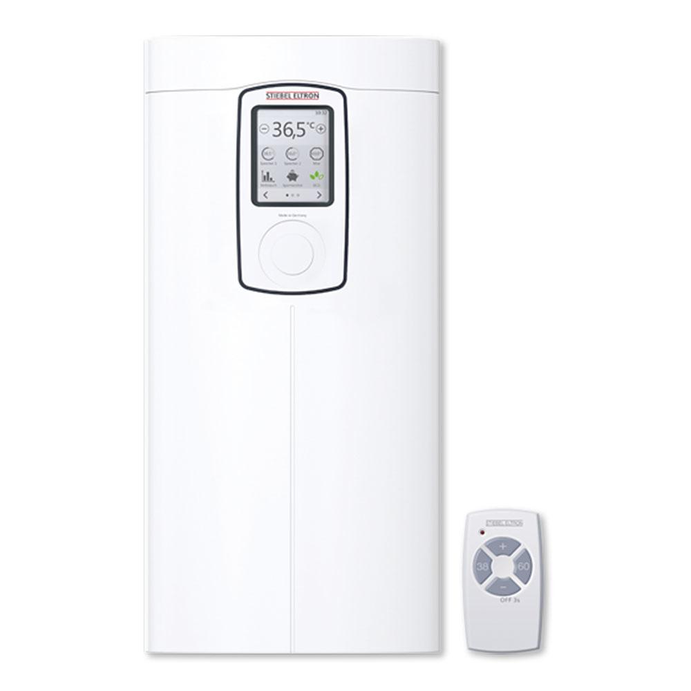 DHE Touch 18/21/24 Patrí medzi komfortné prietokové ohrievače od značky STIEBEL ELTRON, ktoré dokážu zásobovať viaceré odberné miesta (aj vrozličných miestnostiach) sveľkou spotrebou avysokou teplotou vody. Vyspelá elektronická regulácia sa stará opohodlie aj ekologickú prevádzku (ušetrí až 30 % energie avody). Voliteľný výkon 18/21/24 kW, trieda energetickej účinnosti A. www.stiebel-eltron.sk