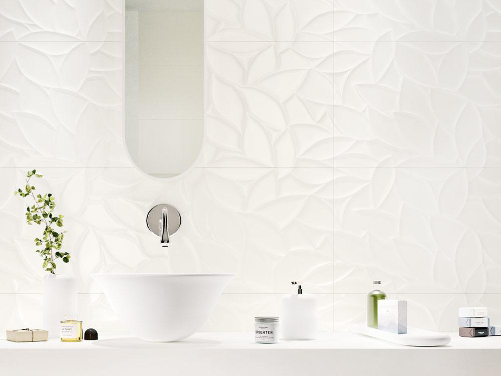 Veľkoformátový obklad od značky Marazzi poteší milovníkov škandinávskeho štýlu bývania. Predáva ho Keramika Soukup.