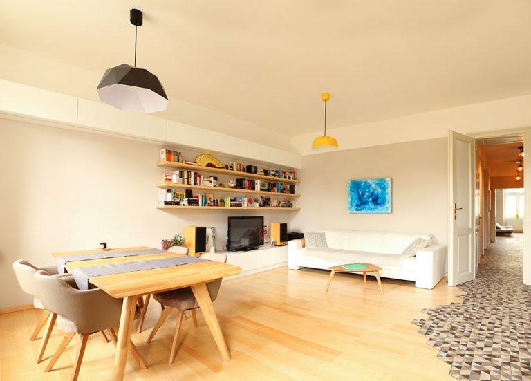 Starý byt po premene: Dlažba ako dôležitý prvok členenia priestoru