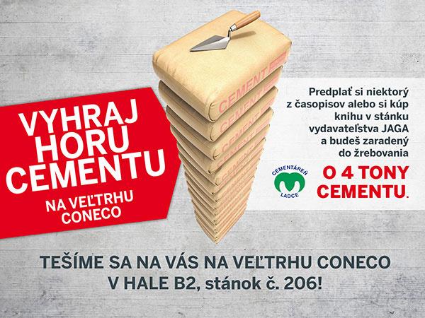 Výsledky súťaže: vyhraj horu cementu na veľtrhu CONECO