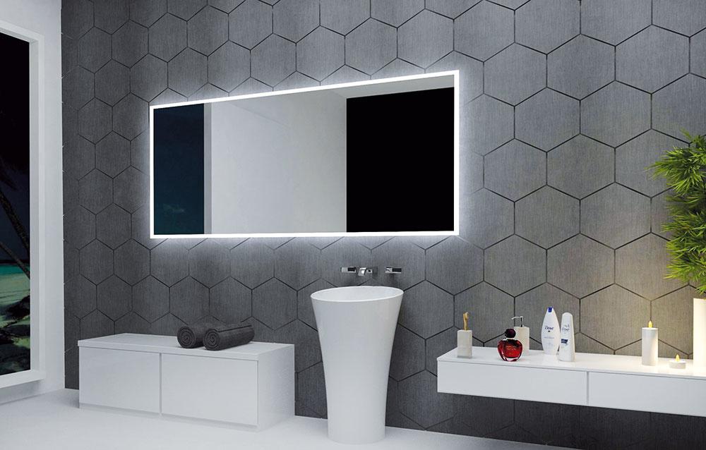 Luxusné zrkadlo sLED podsvietením od značky Allasta na dotykový vypínač patrí medzi trendy vkúpeľňovom  osvetlení. Predáva www.zrkadlovysvet.sk.