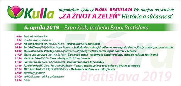 """Seminár """"ZA ŽIVOT A ZELEŇ"""" – Flóra Bratislava 2019"""