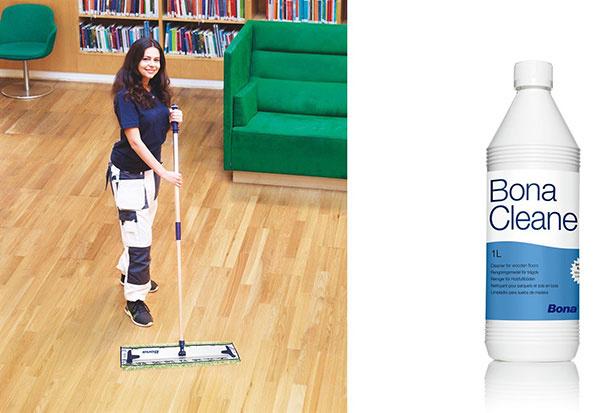 Bona Cleaner je čistič pre profesionálny vzhľaddrevených lakovaných podláh.