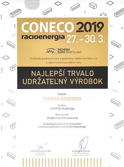 Terran Generon získal ocenenie na Conecu 2019