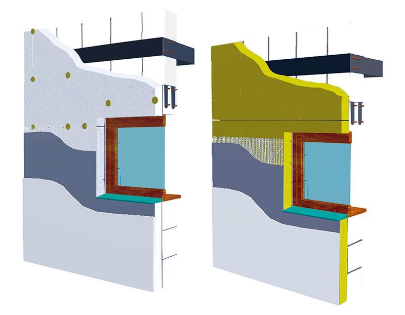 Viacvrstvové murivo obvodových stien KMB Sendwix má nosnú konštrukciu z vápennopieskových tehál, ktoré sa z vonkajšej strany zateplia. Tri typy certifikovaného systému sa líšia izolantom (minerálna vlna alebo fasádny polystyrén) a vzhľadom fasády (lícová prímurovka alebo ušľachtilá omietka). Ak sa na murivo s hr. 17,5 cm aplikuje tepelná izolácia s hr. od 16 do 30 cm, celková hrúbka obvodovej steny bude od 35 do 49 cm pri súčiniteli prechodu tepla U = 0,22 až 0,12 W/(m2 . K). www.sendwix.sk