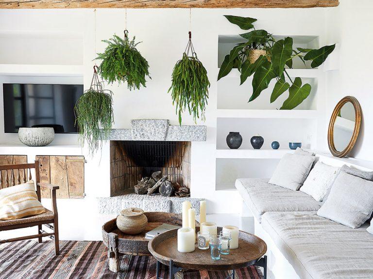 Interiér v južanskom štýle: Biela, drevo a zeleň