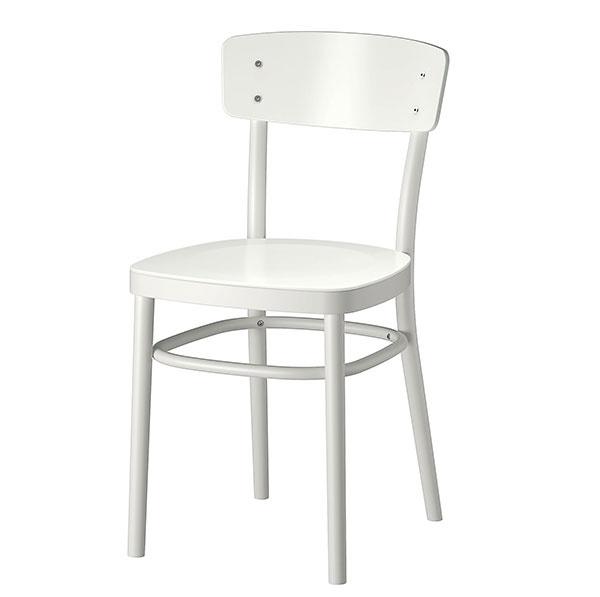 Stolička IDOLF, masívny buk, lepená drevená dyha, 42 × 80 × 47 cm, 49,99 €, IKEA