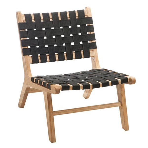 Stolička Caitria Black, drevo, ľan, 77 × 73 × 57 cm, 330 €, www.westwing.sk