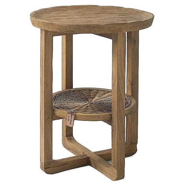 Kávový stolík Afrika od značky Riviera Maison, recyklované dubové drevo, priemer 45 cm, výška 60 cm, 352,13 €,  www.lanatura.cz