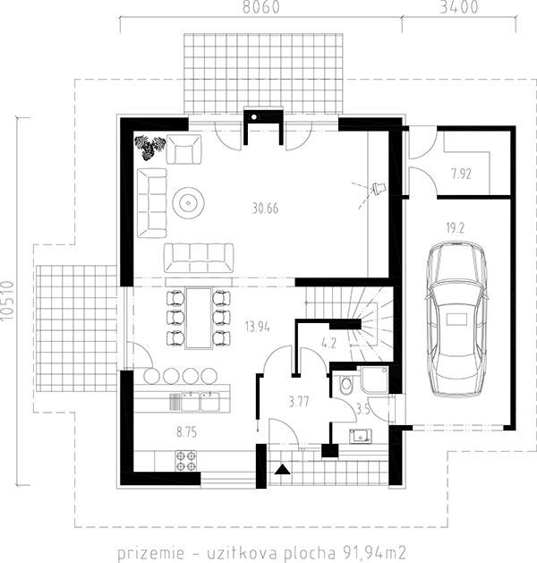 Prízemný rodinný dom BETA