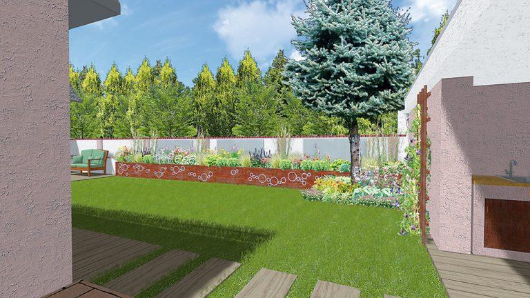 Ako navrhnúť záhradu pri dome v radovej zástavbe?