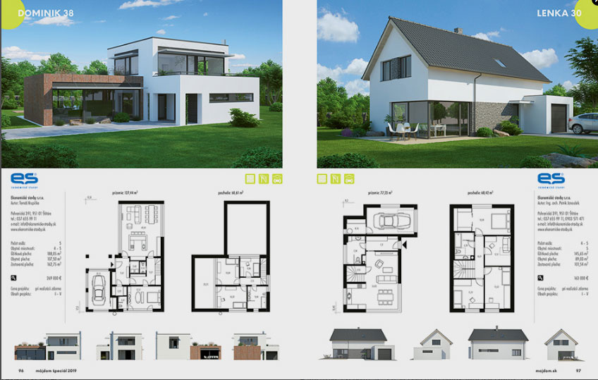 Môj dom špeciál 01/2019 Katalóg projektov rodinných domov