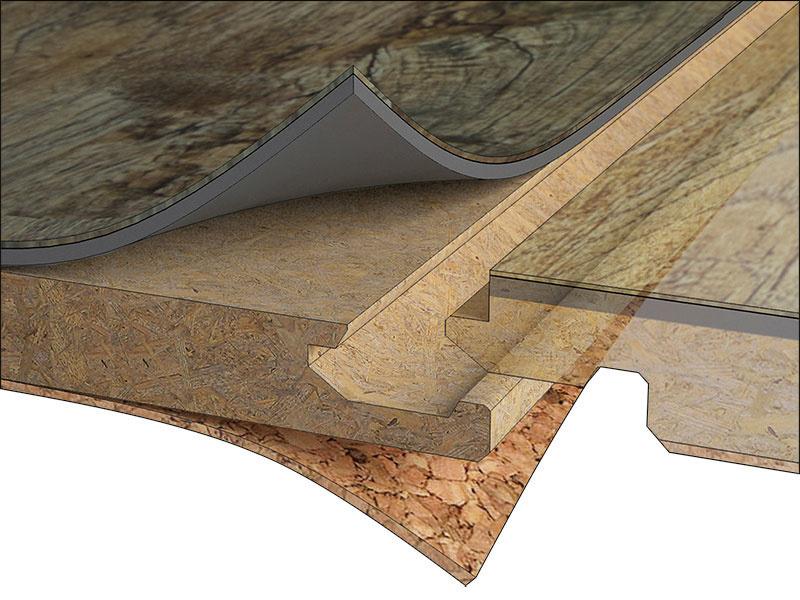 Vinylová plávajúca podlaha FatraClick je vybavená zámkovým spojom Uniclic® ainštaluje sa bez použitia lepidla. Je zložená ztroch základných vrstiev. Uprostred je nosná HDF doska so zvýšenou odolnosťou proti vlhkosti, na spodnej strane je zvukovoizolačná vrstva korku ana vrchnej nášľapná adekoračná vrstva zPVC materiálu spolyuretánovou povrchovou úpravou.