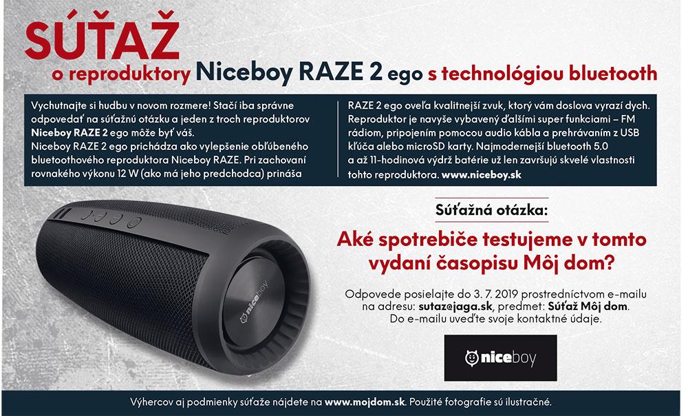 Výsledky súťaže o reproduktory Niceboy RAZE 2 ego s technológiou bluetooth