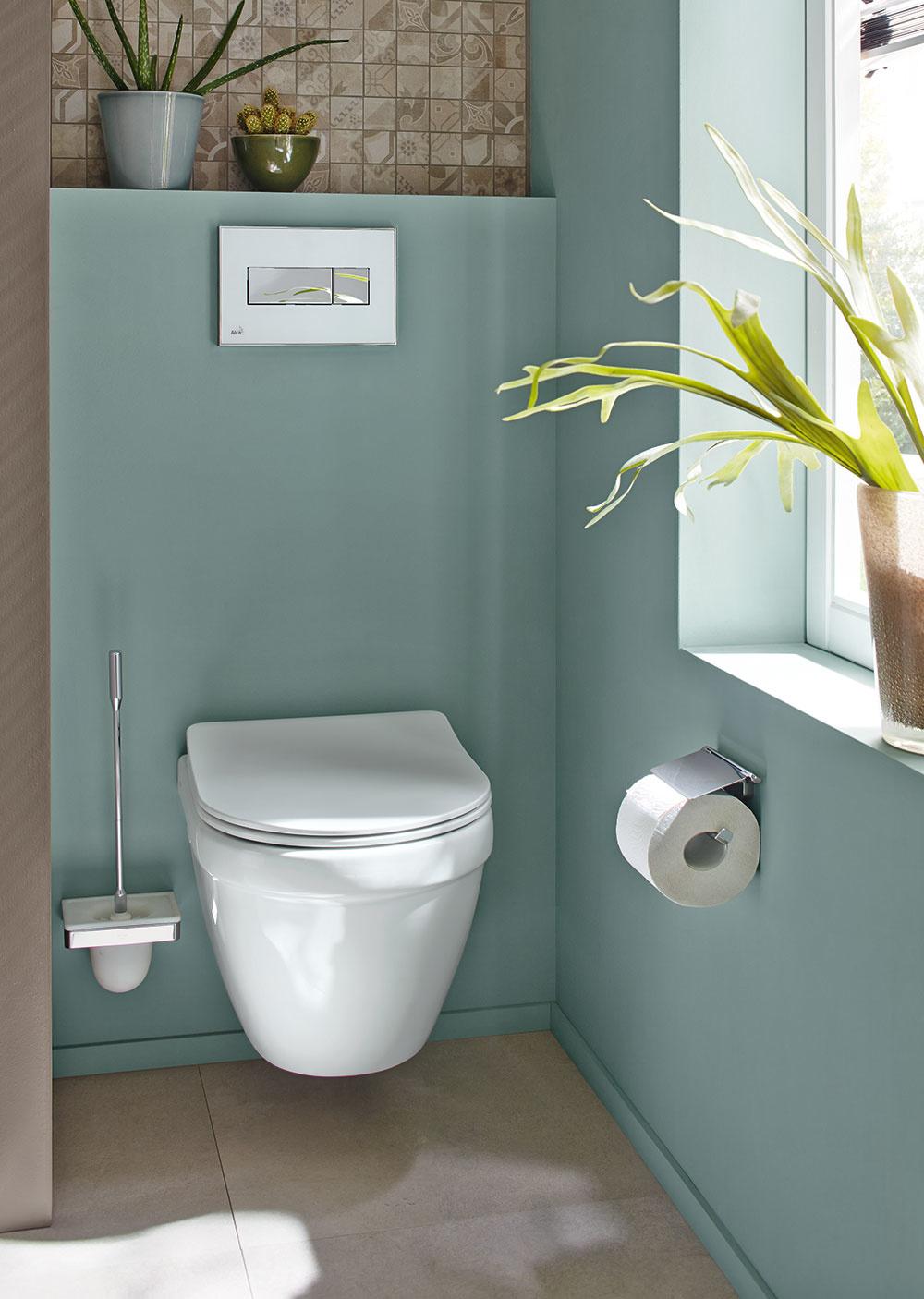 V prípade toalety je dôležitý výber splachovacej nádržky alebo predstenového prvku. Na jedno spláchnutie by sa nemalo spotrebovať viac ako 6 litrov vody a vďaka dvojčinnému splachovaniu môžete znížiť spotrebu vody až o 50 %. Závesné WC Jungborn ELLA