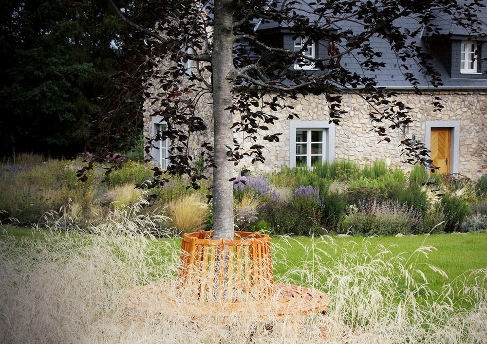 Pohľad na solitérny strom si môžeme užiť ako zexteriéru, tak aj zinteriéru. Kompozícia záhrady by mala odrážať vnútornú dispozíciu obytných miestností.