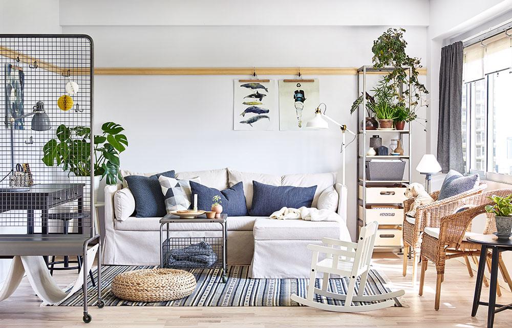 10 optických trikov na zväčšenie malej obývačky