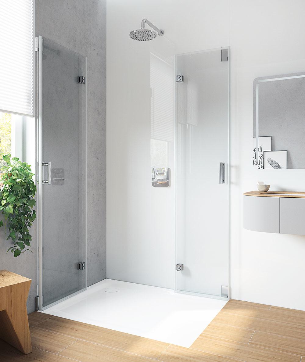Sprchovací kút so sklenenými stenami