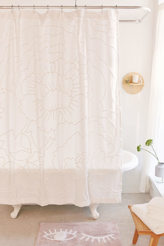 sprchový záves s plastickou výšivkou